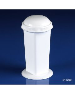 Coplin Microscope Slide Staining Jar, 5-10 Place, PP, White, Screw Cap Item# 513200-1