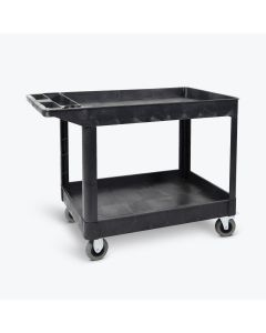 "Two-Shelf Heavy-Dity Utility Cart 5"" Casters Item# XLC11SP5-B"